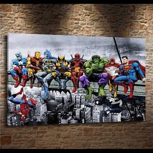 Famous Limited Edition Superhero's Canvas Poster